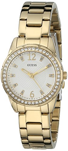 GUESS Women's U0445L2 Feminine Gold-Tone Stainless Steel Watch