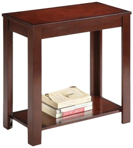 Ore International 7710 Traditional Side Table, Dark Cherry, 24-Inch front-5902