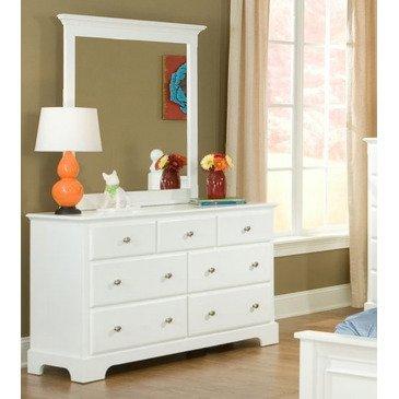 Homelegance Morelle 7 Drawer Dresser w/ Mirror in White