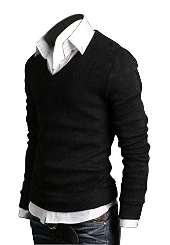 Keral New Men Sweater Jumper Tops Cardigan Premium Stylish Slim Fit V-neck Sweater