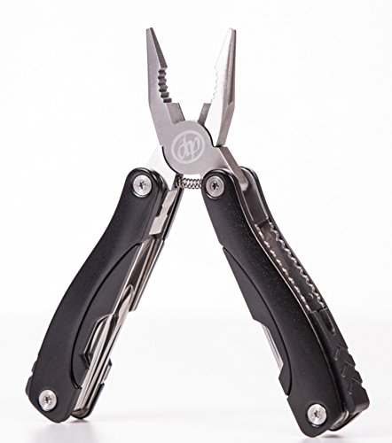 Multi Tool Pliers - Best pocket-size multi-purpose tool with knife - Deluxe quality - Pliers, Screwdriver, Wire Cutter, Saw -