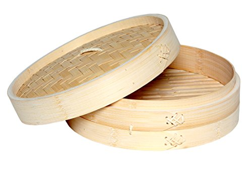 Melange 700465372840 Asian Kitchen Bamboo Steamer, 10
