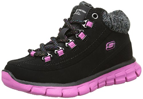 Skechers Synergy Strong Will, Stivaletti da Ragazza', Nero (Black/Hot Pink), 35