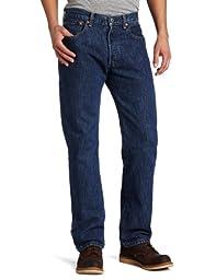 Levi\'s Men\'s 501 Original Fit Jean, Dark Stonewash, 36x32