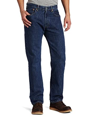 Levi's Men's 501 Original Fit Jean, Dark Stonewash, 29x30