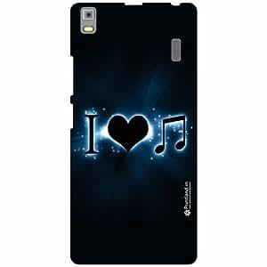 Lenovo A7000 - PA030023IN Back Cover - Silicon Love Music Designer Cases