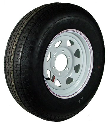 15″ x 6″ White Spoke Trailer Wheel  bias ST22575D15D