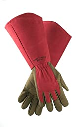 West County 054RS Gauntlet Rose Glove, Ruby, Small