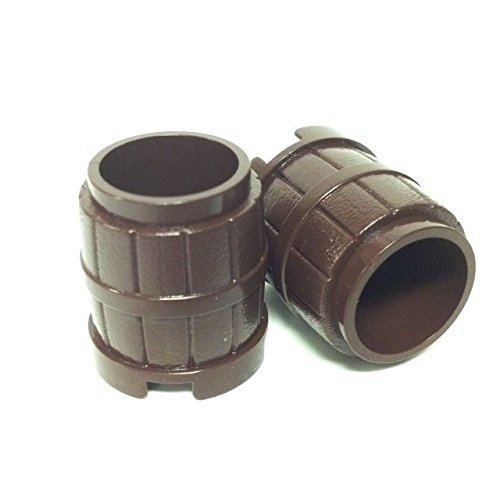 Lego Parts: Container, Barrel 2 x 2 x 2 (PACK of 2 - Dark Brown) - 1