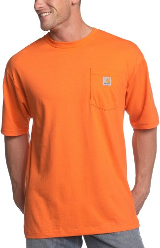 Carhartt Men's Workwear Pocket T-Shirt K87,  Orange,  XXX-Large Regular
