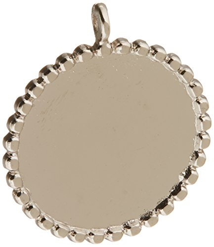 Epiphany Crafts Metal Charm Settings-Round 25, 5/Pkg