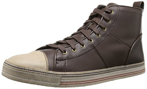 John Varvatos Men's Mick Hi Fashion Sneaker, Dark Brown, 11 M US