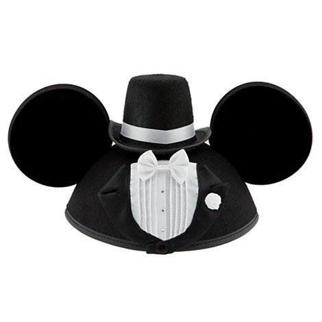 Disney Park Mickey Mouse Ears Wedding Groom Hat NEW