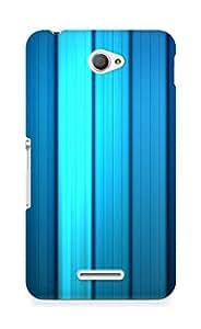 Amez designer printed 3d premium high quality back case cover for Sony Xperia E4 (Motion Stripes)