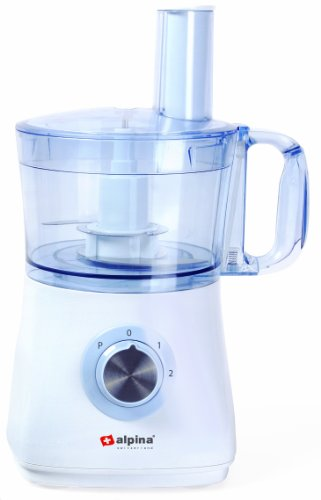 Alpina SF-4019 500-Watt Food Processor and Blender with Citrus Juicer for 220/240 Volt Countries (Not for USA)