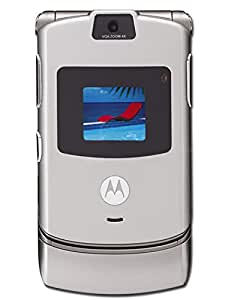 Motorola RAZR V3 AT&T Phone with Camera, Bluetooth and Video Player - Silver