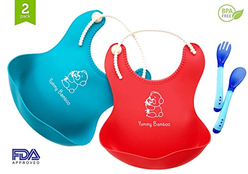 Adorable Waterproof Silicone Soft Bib