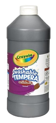 Crayola Tempera Washable Paint 32-Ounce Plastic Squeeze Bottle, Black