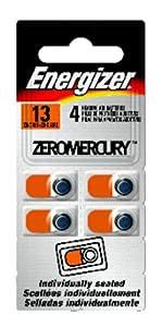 Energizer Zinc Air Perf Pack Hearing Aid Batteries Az13e, 4-Count
