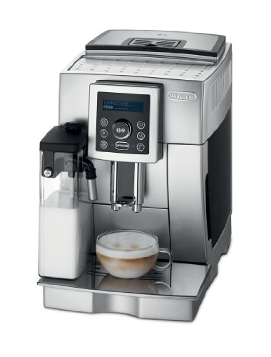 DeLonghi Compact Automatic Cappuccino, Latte and Espresso Machine, Silver