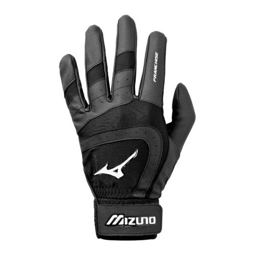 Mizuno Franchise G2 Batting Glove, Black, Large