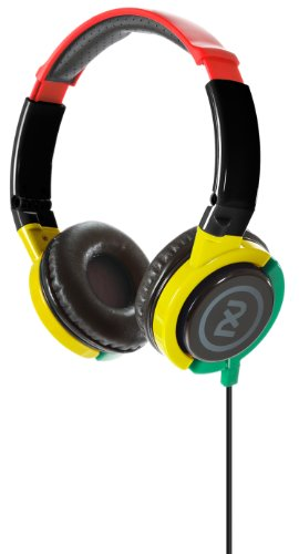 2Xl Phase Dj Headphone With Articulating Ear-Cups X6Ftfz-810 (Rasta)