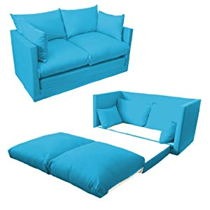 Shopisfy Children's 2 Seater Compact Fold Out Sofa Bed - Turquoise from Shopisfy