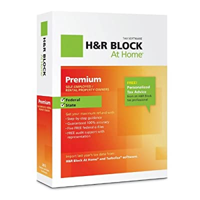 H&R Block At Home Premium + State 2012