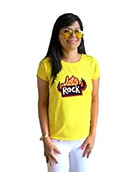 LetsFlaunt Lets rock yellow girl Dry-Fit-Small Nw