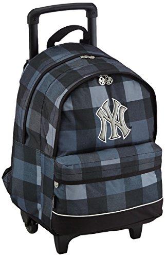 major-league-baseball-sac-a-dos-enfants-sac-a-dos-avec-2-compartiments-trolley-45-cm-gris
