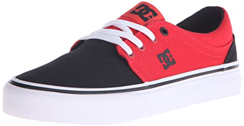DC Women's Trase TX Skate Shoe, Black/Poppy Red, 6.5 M US