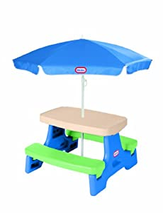 Little Tikes Easy Store Junior Table with Umbrella