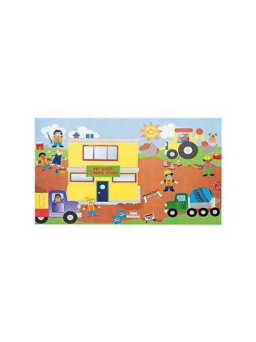 Construction Site Sticker Scene (12-pack)