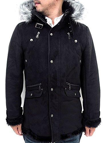 (マルカワジーンズパワージーンズバリュー) Marukawa JEANS POWER JEANS VALUE ジャケット メンズ ムートン コート 2color L ブラック