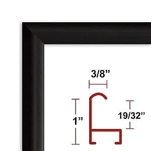 amazoncom 13 x 39 satin black poster frame profile