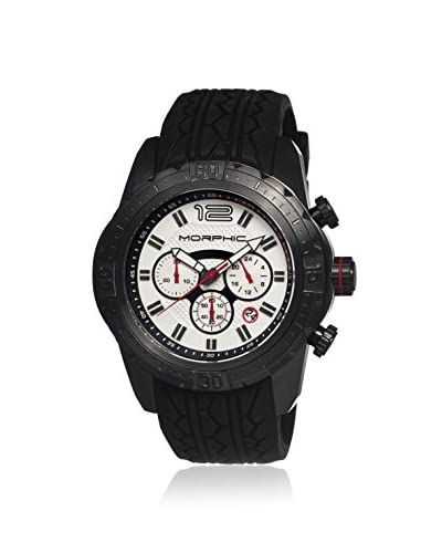Morphic Men's MPH2704 M27 Series Black/White Silicone Watch