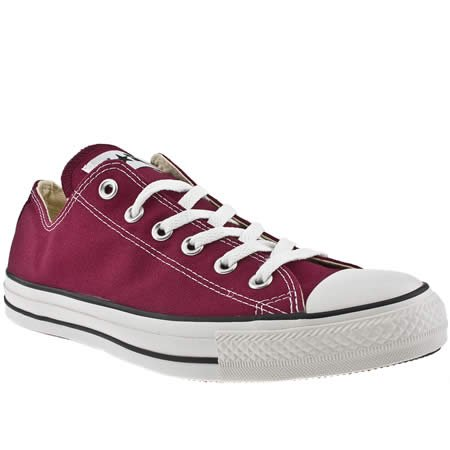 Converse All Star Lo - 7 Uk - Burgundy - Fabric