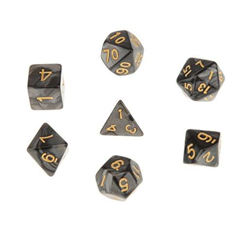 7pcs-juegos-de-mesa-dados-multi-caras-trpg-d4-d20-patron-perla-con-puntitos-dorados-negro
