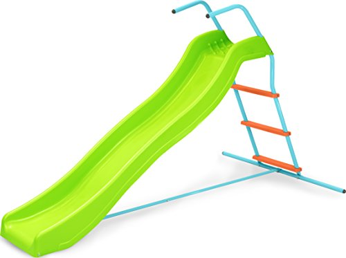 Pure Fun Home Playground Equipment: 6' Indoor/Outdoor Wavy Slide, Youth Ages 4 to 10 (Slides Backyard compare prices)