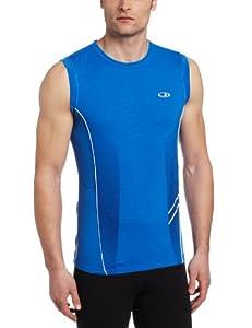 Icebreaker Men's Sonic Sleeveless Shirt, Cadet, Large