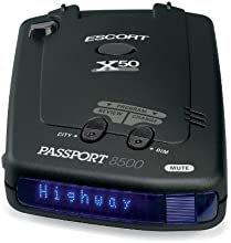 Escort Passport 8500X50 Black Radar Detector, Blue Display