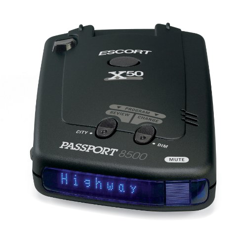 Escort 80-000085-15 Passport 8500X50 Black Radar Detector, Blue Display