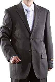 Men's Single Breasted Two Button Olive Dress Suit