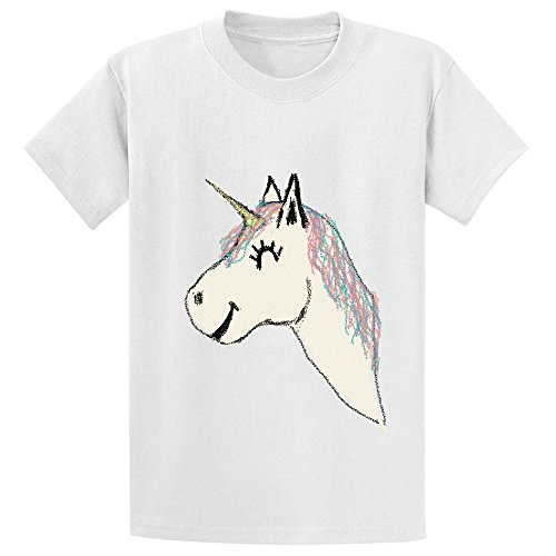 Mcol Mystical Doodle Boys' Crew Neck Personalized T Shirt White