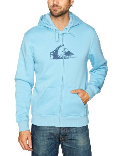 Quiksilver Hood Zip Logo-KPMSW97211 Men's Sweatshirt Water Blue X-Large