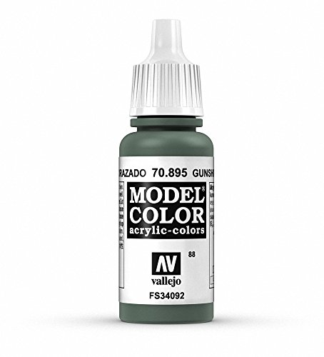 Vallejo Gunship Green Model Color Paint, 17ml