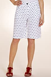Per Una Pure Cotton Spotted Havana Shorts [T62-4623I-S]