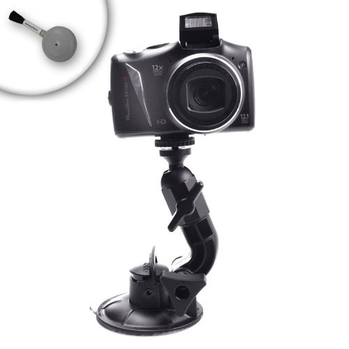 Heavy-Duty Adventure Camera and Video Suction Mount for Canon EOS Rebel T3 , Nikon D3100 , Pentax K-r and More Digital SLR Cameras **Includes Cleaning Brush