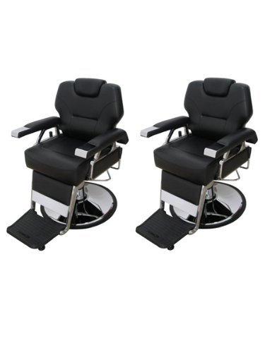 "Set of 2 Professional ""KO"" All Purpose Hydraulic Barber Chairs"