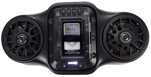 Ssv Works Wp-Ou2 Stereo Speaker System Overhead Sound Bar New 2012 For Ipod Or Iphone, Fits Yamaha Rhino, Kawasaki Teryx, Polaris Ranger, Kubota Rtv, Golf Carts
